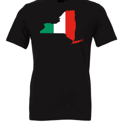 Italian Flag New York Black T-Shirt