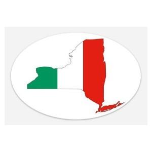 italian flag new york sticker 2
