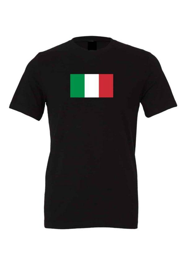 italian flag t shirt black 1
