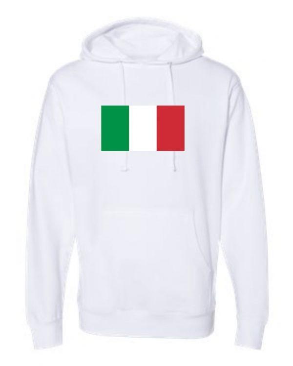 italian flag white hoodie 1