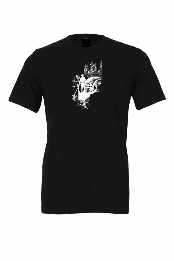 italy gondola black t shirt 1