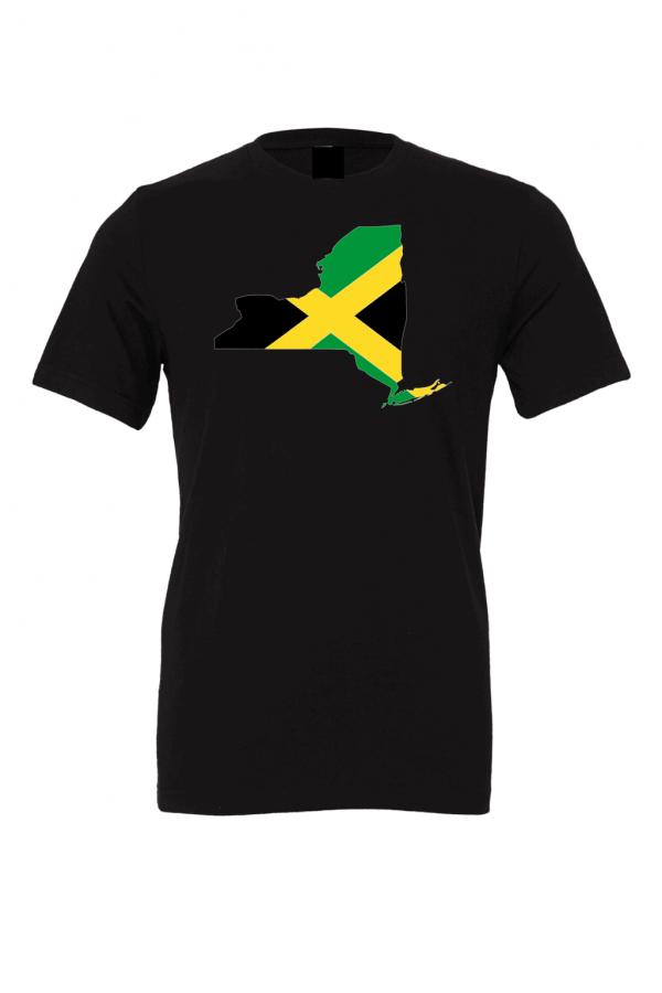 jamaican flag new york black t shirt 2