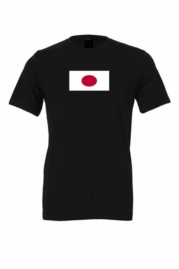 japanese flag black t shirt 1