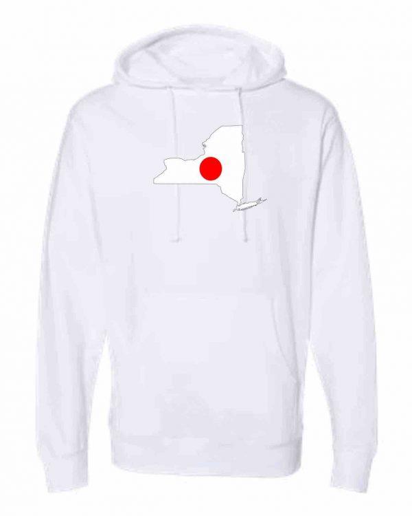 japanese flag new york white hoodie 1