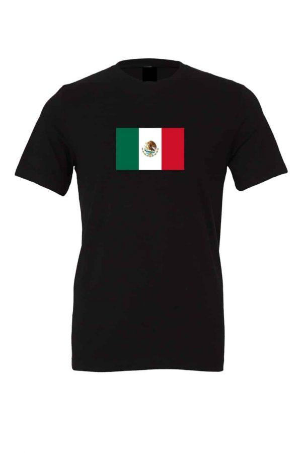 mexican flag black t shirt 1