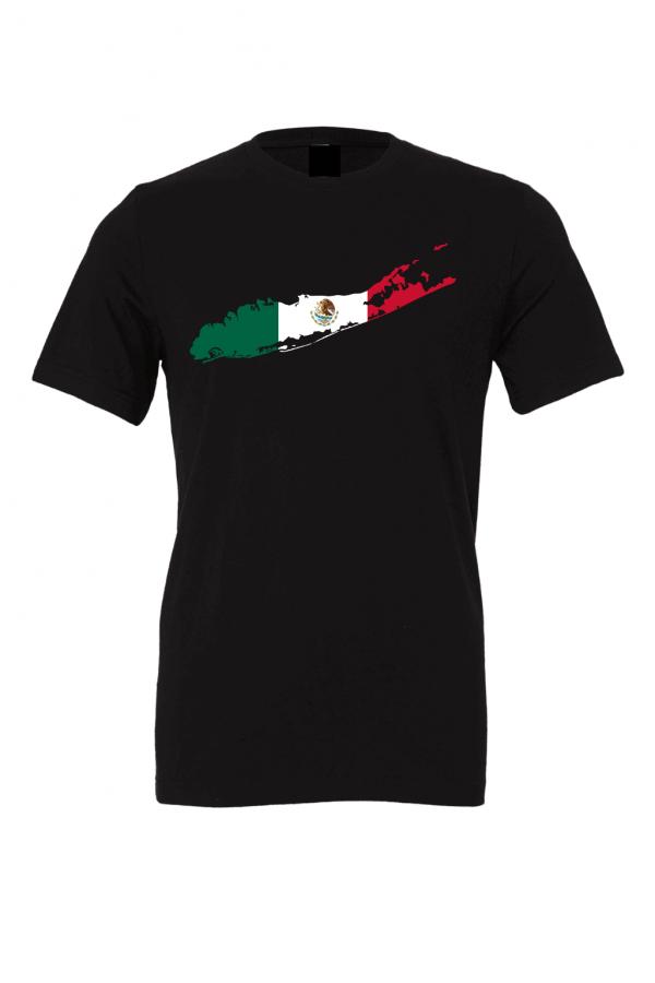 mexican flag long island black t shirt 2