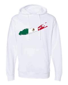 mexican flag long island white hoodie 2