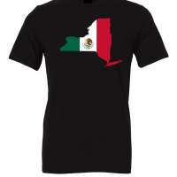 mexican flag new york black t shirt 2