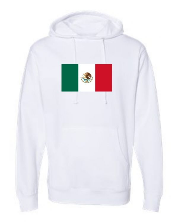 mexican flag white hoodie 1