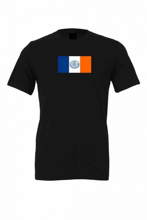new york city flag black t shirt 1