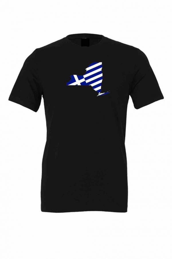 new york greek greece flag tshirt black 8