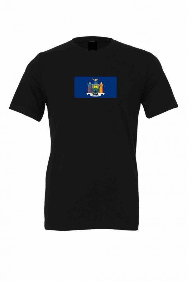 new york state flag black t shirt 1