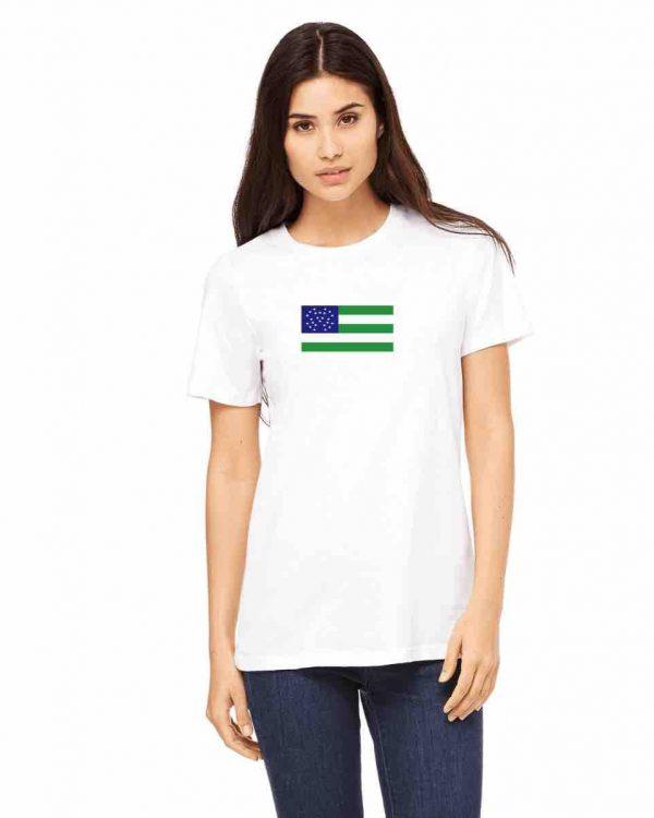 nypd flag womens white t shirt 1