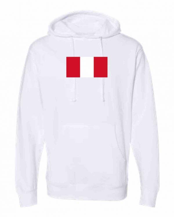 peru flag white hoodie 1