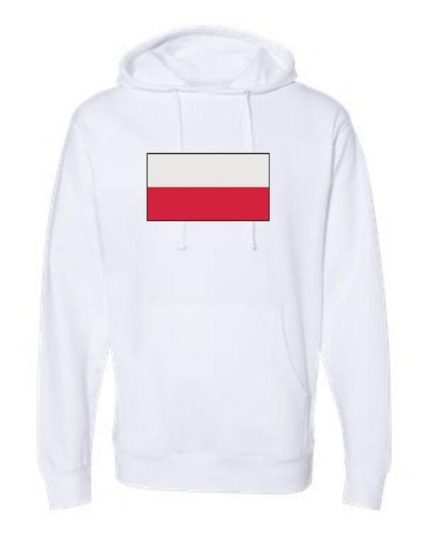 poland flag white hoodie 1
