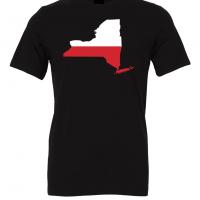 polish flag new york black t shirt 2
