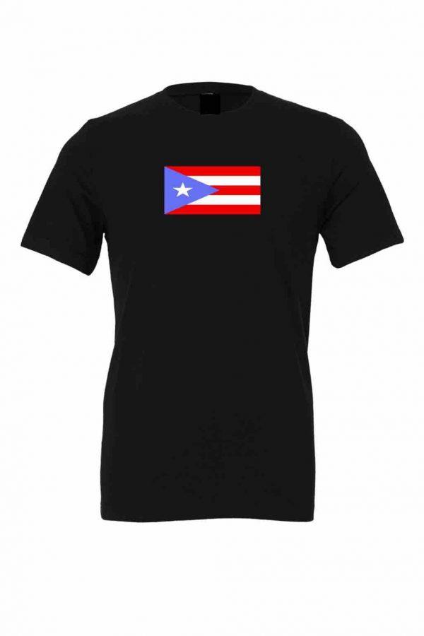 puerto rico flag light blue black t shirt 2