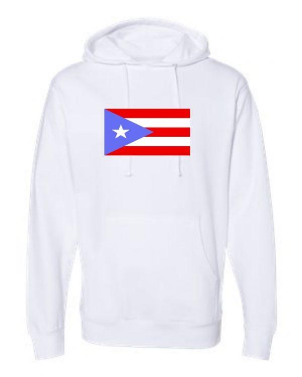 puerto rico flag white hoodie 1